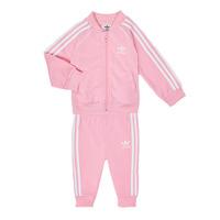 Textil Rapariga Conjunto adidas Originals SST TRACKSUIT Rosa