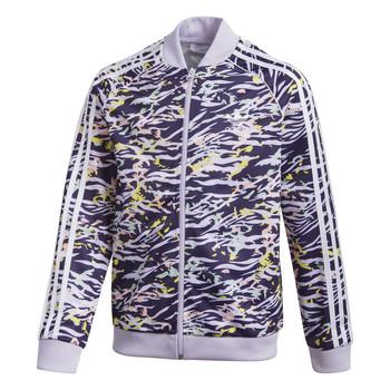 Textil Rapariga Casacos fato de treino adidas Originals SST TOP Violeta