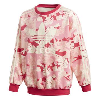 Textil Rapariga Sweats adidas Originals CREW Rosa