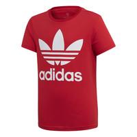 Textil Criança T-Shirt mangas curtas adidas Originals TREFOIL TEE Vermelho