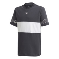 Textil Rapaz T-Shirt mangas curtas adidas Originals PANEL TEE Cinza / Branco