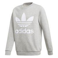 Textil Criança Sweats adidas Originals TREFOIL CREW Cinza