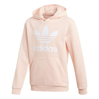 Textil Rapariga Sweats adidas Originals TREFOIL HOODIE Rosa