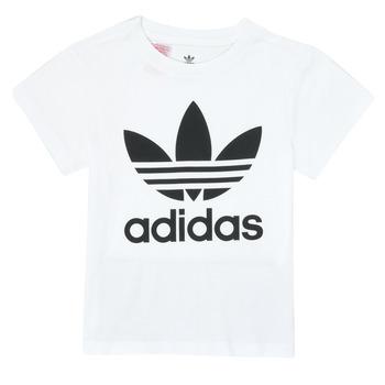 Textil Criança T-Shirt mangas curtas adidas Originals TREFOIL TEE Branco