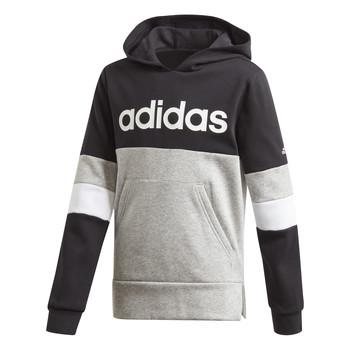 Textil Rapaz Sweats adidas Performance YB LIN CB HD FL Preto / Cinza
