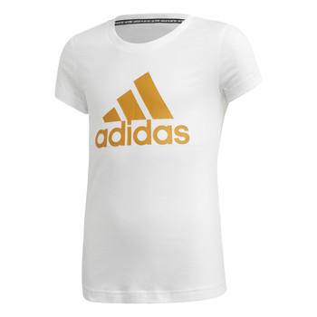 Textil Rapariga T-Shirt mangas curtas adidas Performance YG MH BOS TEE Branco