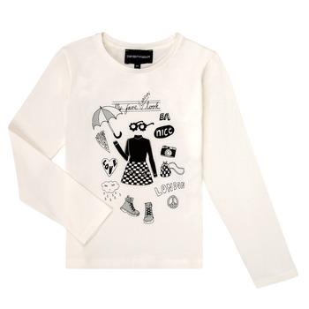 Textil Rapariga T-shirt mangas compridas Emporio Armani 6H3T01-3J2IZ-0101 Branco