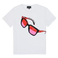 Textil Rapariga T-Shirt mangas curtas Emporio Armani 6H3T7T-3J2IZ-0100 Branco