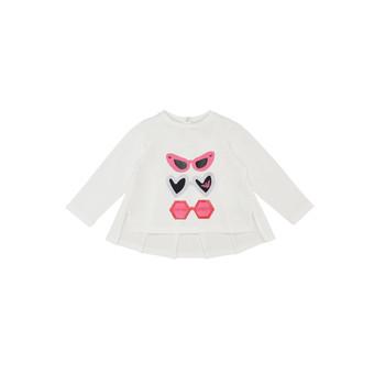 Textil Rapariga T-shirt mangas compridas Emporio Armani 6HEM01-3J2IZ-0101 Branco