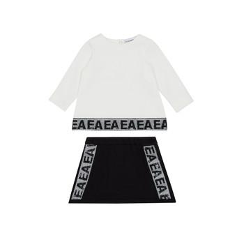 Textil Rapariga Conjunto Emporio Armani 6HEV08-3J3PZ-0101 Branco / Preto