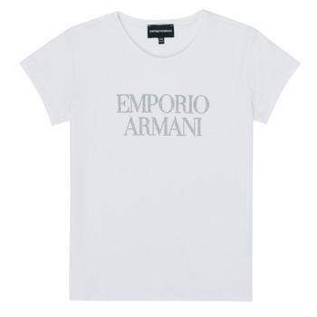 Textil Rapariga T-Shirt mangas curtas Emporio Armani 8N3T03-3J08Z-0100 Branco