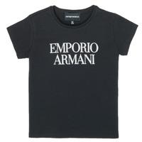 Textil Rapariga T-Shirt mangas curtas Emporio Armani 8N3T03-3J08Z-0999 Preto
