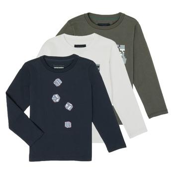 Textil Rapaz T-shirt mangas compridas Emporio Armani 6H4D01-4J09Z-0564 Multicolor