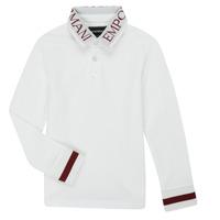 Textil Rapaz Polos mangas compridas Emporio Armani 6H4FJ4-1J0SZ-0101 Branco