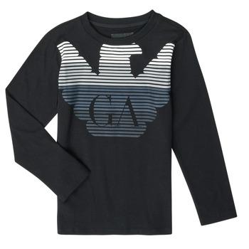 Textil Rapaz T-shirt mangas compridas Emporio Armani 6H4T17-1J00Z-0999 Preto