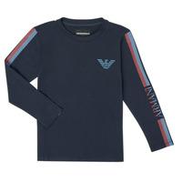 Textil Rapaz T-shirt mangas compridas Emporio Armani 6H4TJD-1J00Z-0920 Marinho