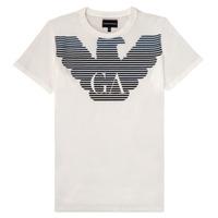 Textil Rapaz T-Shirt mangas curtas Emporio Armani 6H4TQ7-1J00Z-0101 Branco