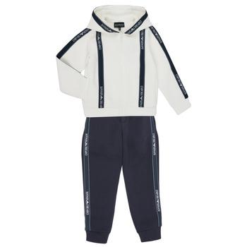 Textil Rapaz Todos os fatos de treino Emporio Armani 6H4V02-1JDSZ-0101 Marinho / Branco