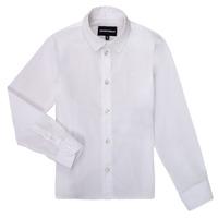 Textil Rapaz Camisas mangas comprida Emporio Armani 8N4CJ0-1N06Z-0100 Branco