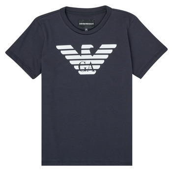 Textil Rapaz T-Shirt mangas curtas Emporio Armani 8N4T99-1JNQZ-0939 Marinho