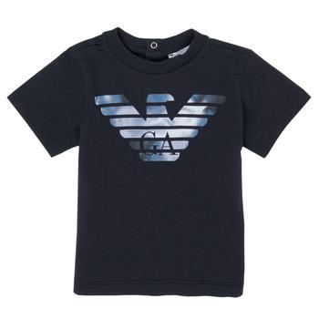 Textil Rapaz T-Shirt mangas curtas Emporio Armani 6HHTA9-1JDXZ-0920 Marinho