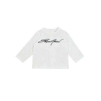 Textil Rapaz T-shirt mangas compridas Emporio Armani 6HHTJN-1JTUZ-0101 Branco