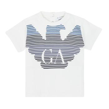 Textil Rapaz T-Shirt mangas curtas Emporio Armani 6HHTQ7-1J00Z-0101 Branco
