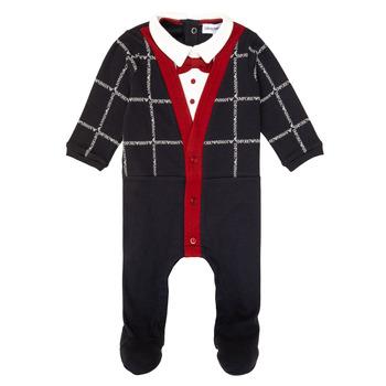 Textil Rapaz Pijamas / Camisas de dormir Emporio Armani 6HHD12-4J3WZ-F912 Marinho