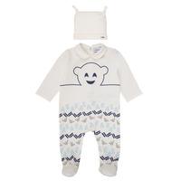 Textil Rapaz Pijamas / Camisas de dormir Emporio Armani 6HHV08-4J3IZ-0101 Branco / Azul