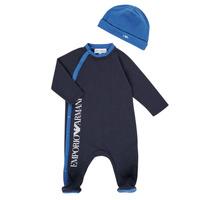 Textil Rapaz Pijamas / Camisas de dormir Emporio Armani 6HHV12-4J3CZ-0922 Marinho