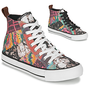 Sapatos Mulher Sapatilhas de cano-alto Desigual BETA_HERITAGE Multicolor