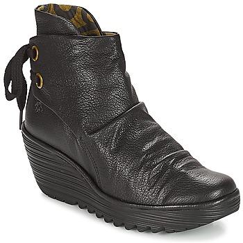 Sapatos Mulher Botins Fly London YAMA Preto