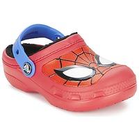 Sapatos Rapaz Tamancos Crocs SPIDERMAN LINED CLOG Vermelho