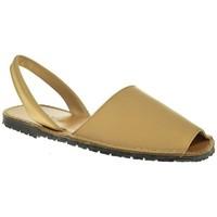 Sapatos Homem Sandálias Duendy 350 Beige