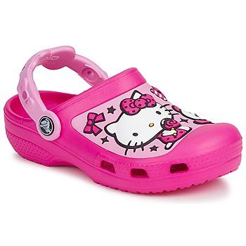 Sapatos Rapariga Tamancos Crocs HELLO KITTY CANDY RIBBONS CLOG Rosa