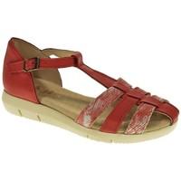 Sapatos Mulher Sandálias Duendy 2929 Rojo