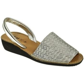 Sapatos Mulher Sandálias Duendy 1350 Plata