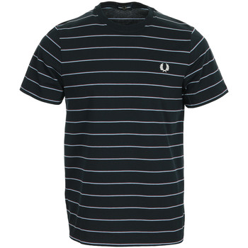 Textil Homem T-Shirt mangas curtas Fred Perry Fine Stripe T-shirt Azul