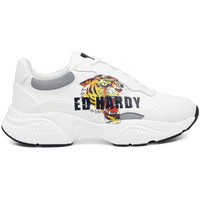 Sapatos Homem Sapatilhas Ed Hardy Insert runner-tiger-white/multi Branco