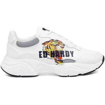 Sapatos Homem Sapatilhas Ed Hardy - Insert runner-tiger-white/multi Branco