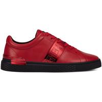 Sapatos Homem Sapatilhas Ed Hardy Stripe low top-metallic red/black Vermelho