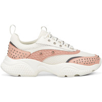 Sapatos Mulher Sapatilhas Ed Hardy Scale runner-stud white/pink Rosa