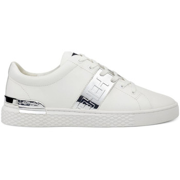Sapatos Homem Sapatilhas Ed Hardy - Stripe low top-metallic white/silver Branco