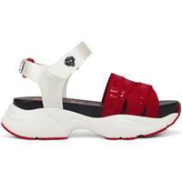 Sapatos Mulher Sandálias Ed Hardy Overlap sandal red/white Vermelho