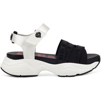 Sapatos Mulher Sandálias Ed Hardy Overlap sandal black/white Branco