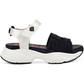 Sapatos Mulher Sandálias Ed Hardy - Overlap sandal black/white Branco