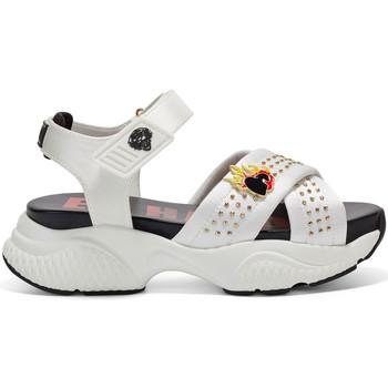 Sapatos Mulher Sandálias Ed Hardy - Flaming sandal white Branco