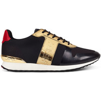 Sapatos Homem Sapatilhas Ed Hardy Mono runner-metallic black/gold Preto