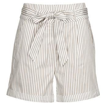 Textil Mulher Shorts / Bermudas Vero Moda VMEVA Branco / Bege