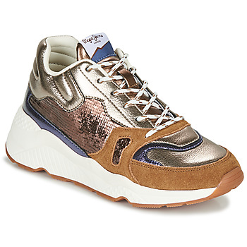 Sapatos Mulher Sapatilhas Pepe jeans HARLOW SPACE Bronze